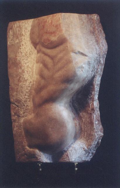 Sculpture Sculpture - Torso Of A Man 4th. by Mari Sanchez