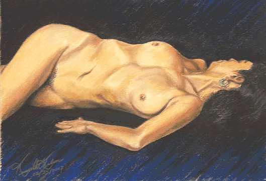 Nude Painting - Torso Study by Kenneth Kelsoe