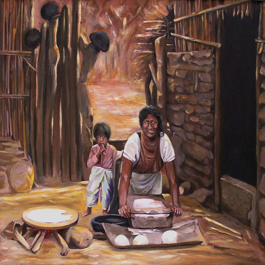 Mexican Painting - Tortillas De Madre by Nancy Griswold