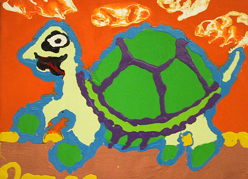 Tortoise Painting - Tortoise by Charles Harrison Pompa