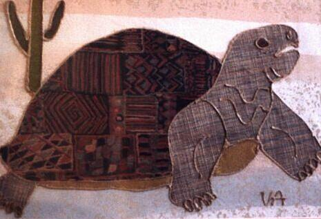 Turtle Painting - Tortoise by Valerie X Armstrong