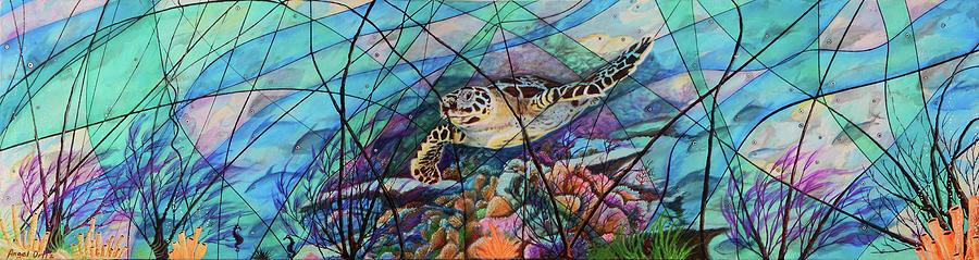 Turtle Painting - Tortuga Carey by Angel Ortiz
