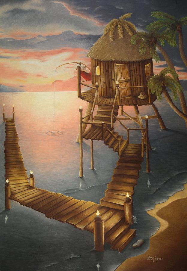Tiki Pastel - Tortugan Riviera by Amanda Clark