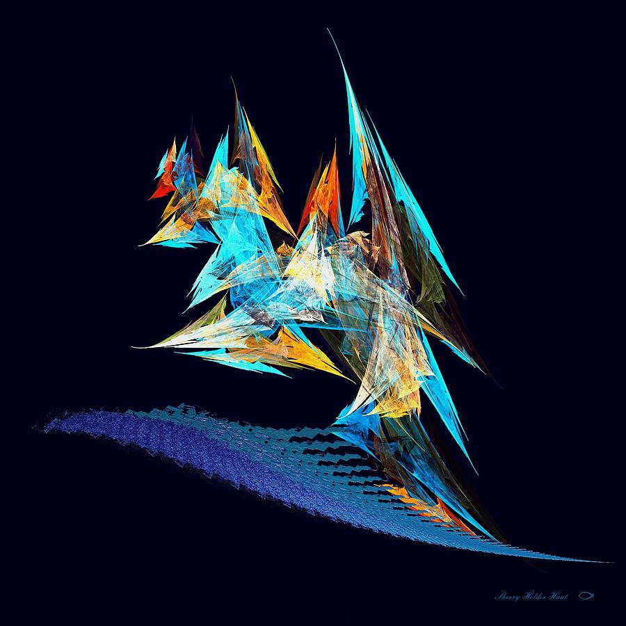 Color Digital Art - Tossed About by Sherry Holder Hunt
