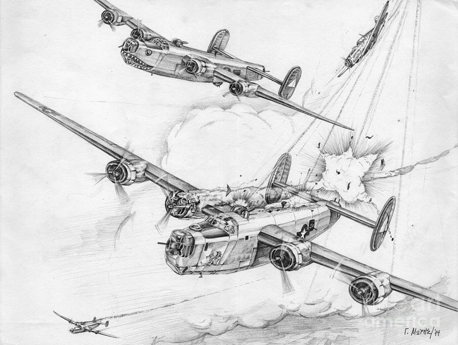 Total Air War Drawing By Georgios Moris
