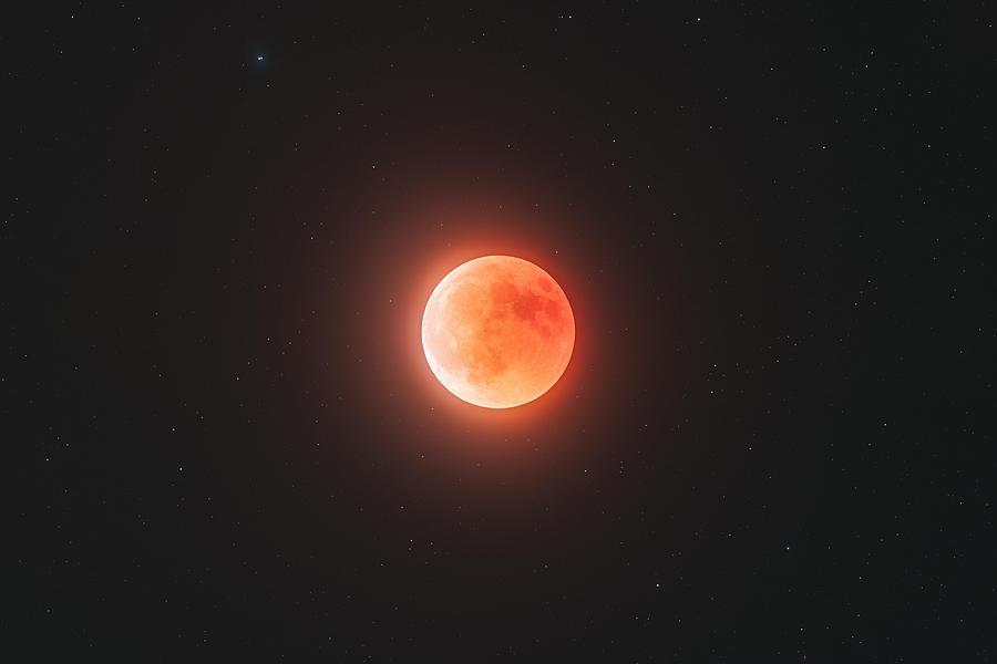 Moon Photograph - Total Eclipse of the Moon, July 2018 by Bartosz Wojczynski