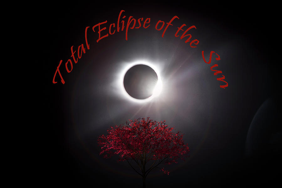 Total Photograph - Total Eclipse Of The Sun In Art by Debra and Dave Vanderlaan