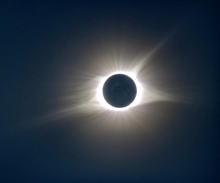 Solar Eclipse Photograph - Total Solar Eclipse Hdr by Jonathan Sabin