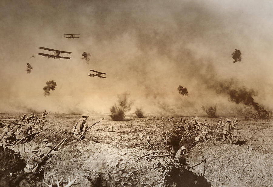 a history of the weaponry air and water warfare in the world war one Technology during world war i (1914-1918) reflected a trend toward industrialism and the application of mass-production methods to weapons and to the technology of warfare in general.