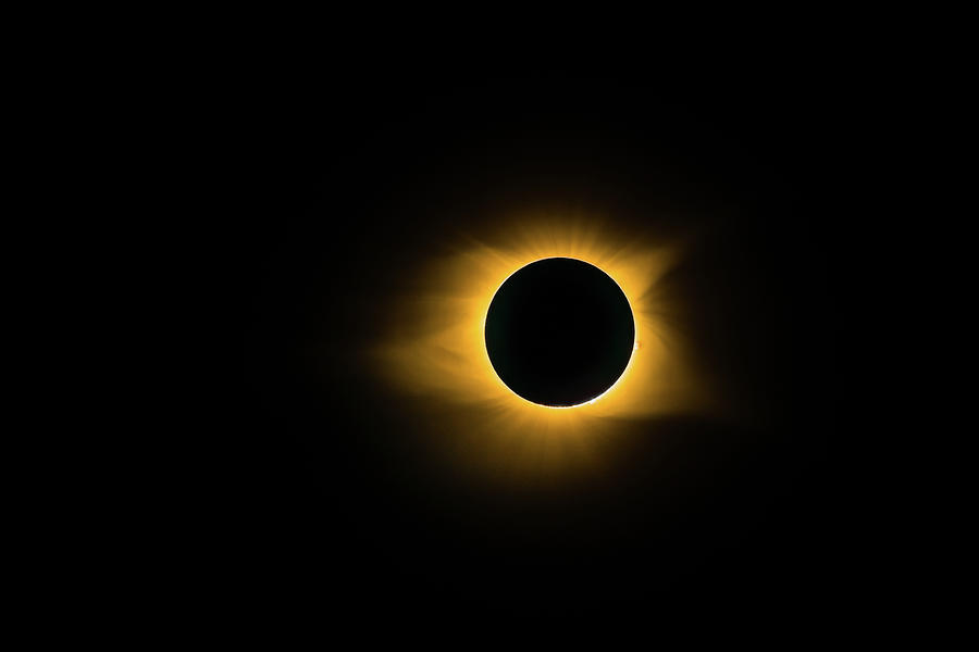 Moon Photograph - Totality True Color by Onyonet  Photo Studios