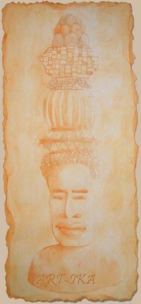 Totem 2 Drawing by Art- Ika