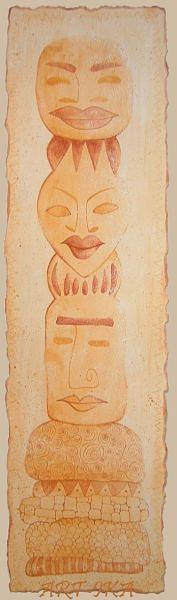Totem Drawing by Art- Ika
