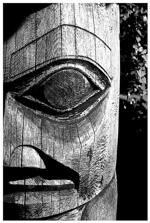 Black And White Photograph - Totem by Daniel Kazor