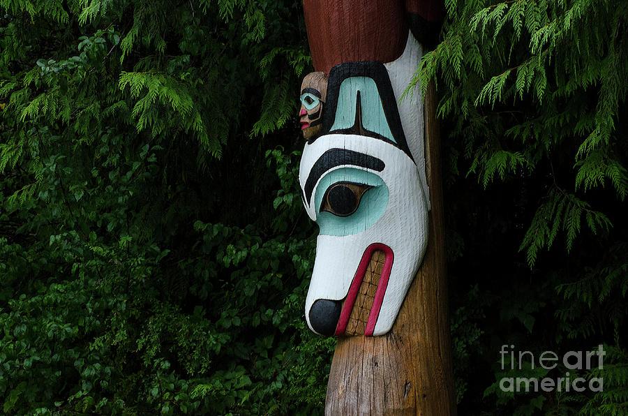 Totem Photograph - Totem Pole Alaska 1 by Bob Christopher