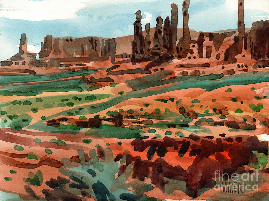 Monument Valley Painting - Totem Poles by Donald Maier