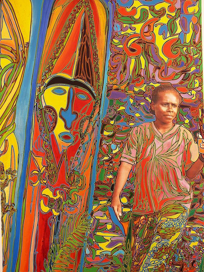 Vanuatu Painting - Totemgirl In Vanuatu by Igor Eugen Prokop