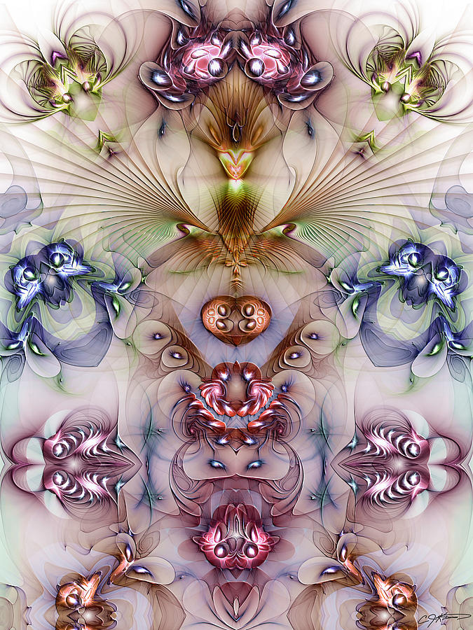 Abstract Digital Art - Totemic Isotropy by Casey Kotas