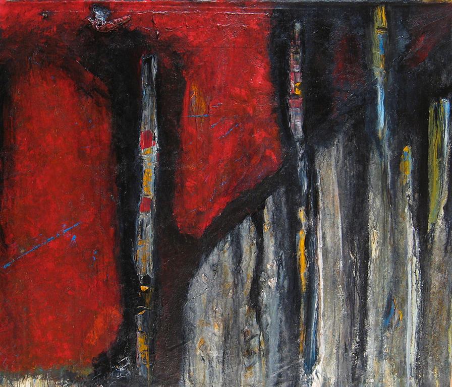 Totems Of The Intu-i-verts  Painting by Dana ORegan