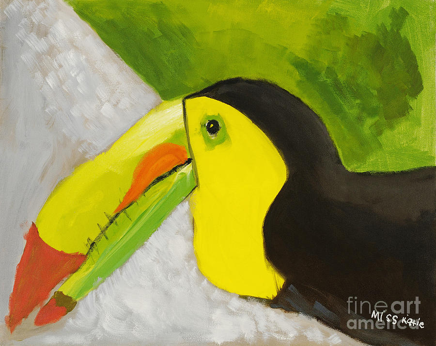 Art Medium Painting - Toucan by Katie OBrien - Printscapes