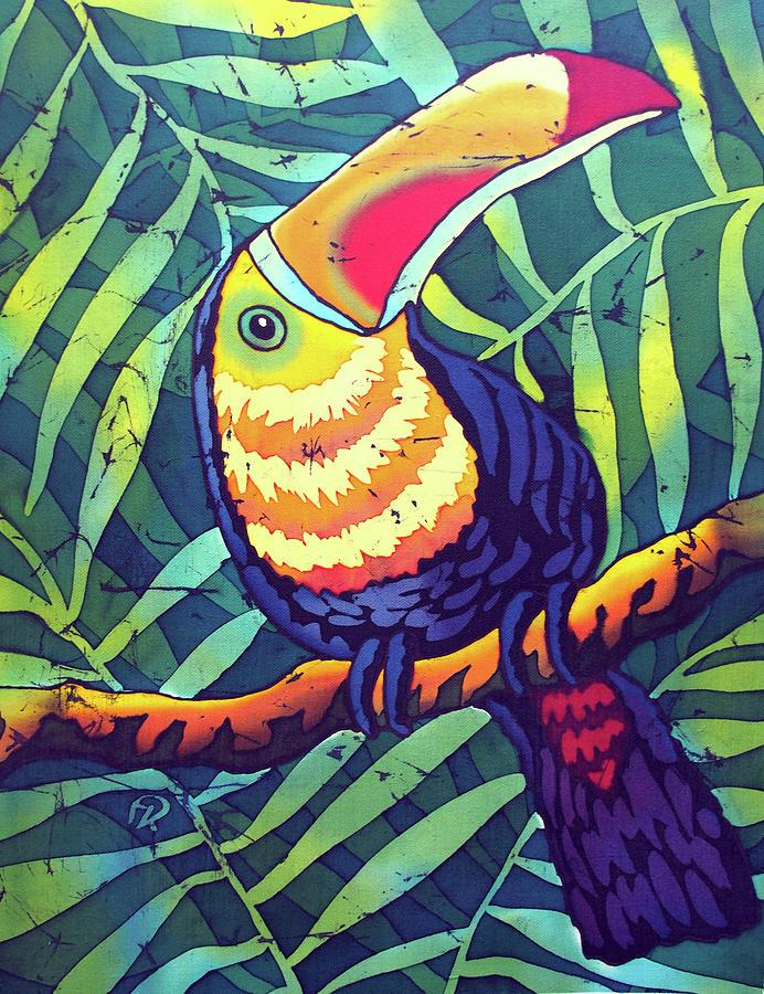 батик птицы тукан первый