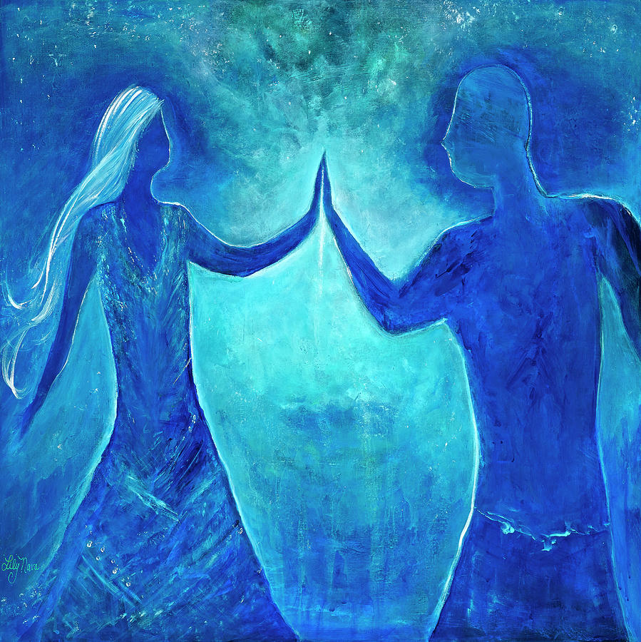 Soulmate Painting - Touch by Lily Nava