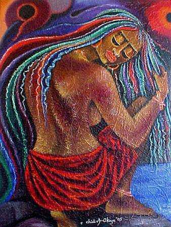 Bright Painting - Touch Of Beauty 2 by Chidi Okoye