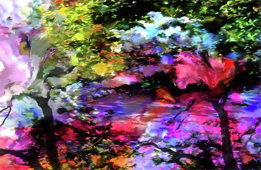 Digital Art Digital Art - Touch Of Monet by Sherris - Of Palm Springs