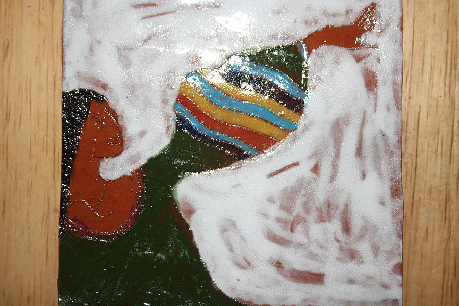 Jesus Ceramic Art - Touch The Sky - Tile by Gloria Ssali