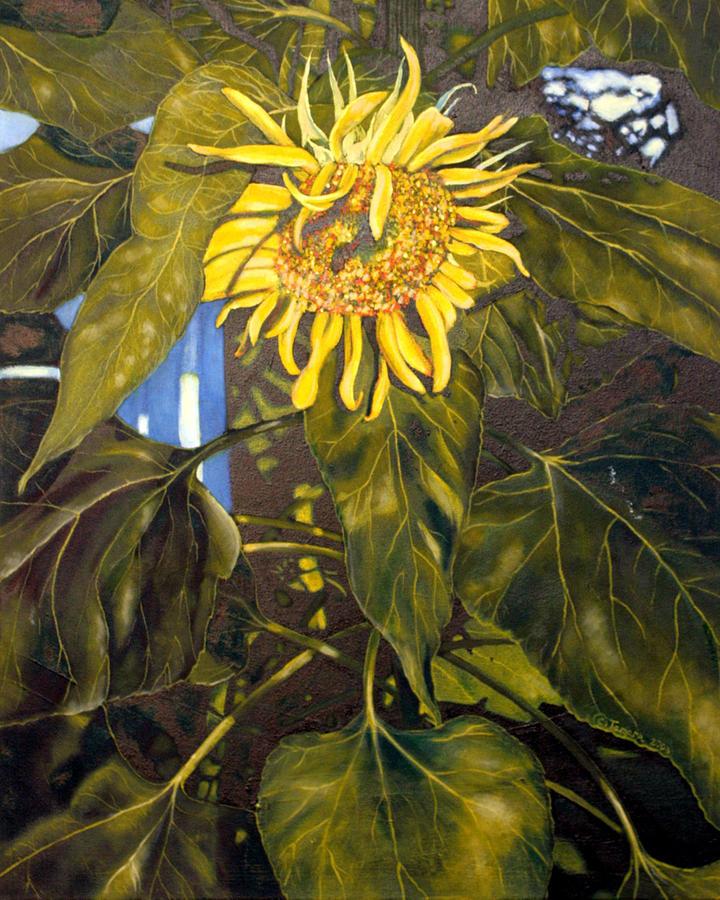 Chiaroscuro Painting - Touch This Sunflower by Tamara Kulish