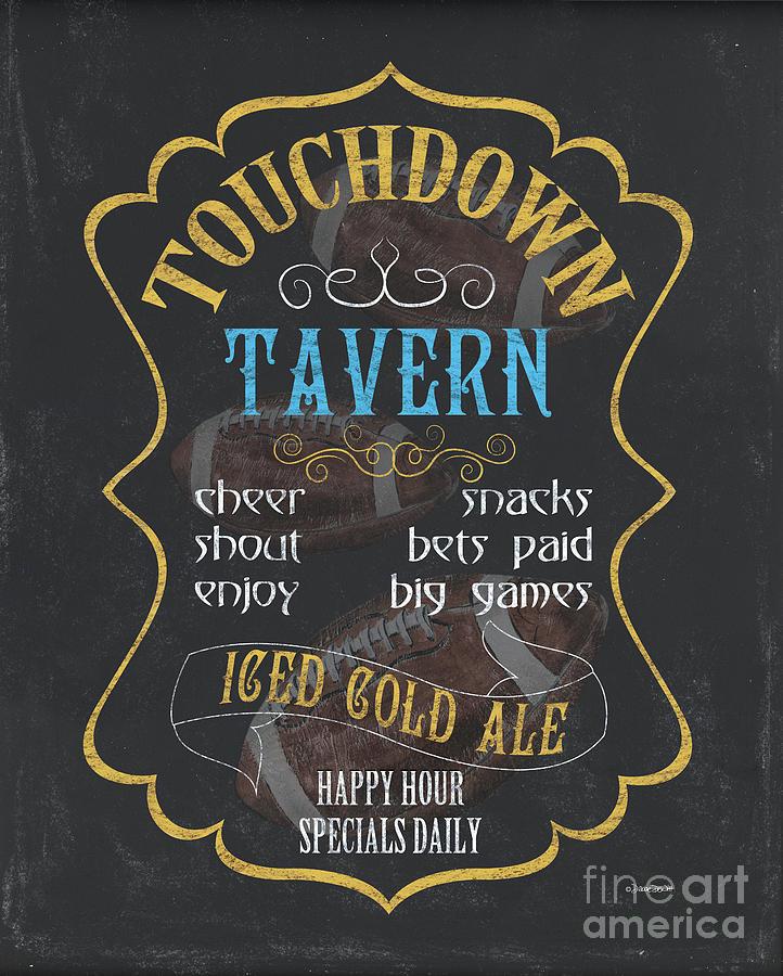 Beer Painting - Touchdown Tavern by Debbie DeWitt
