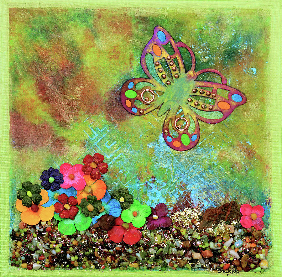 Butterfly Mixed Media - Touched By Enchantment by Donna Blackhall