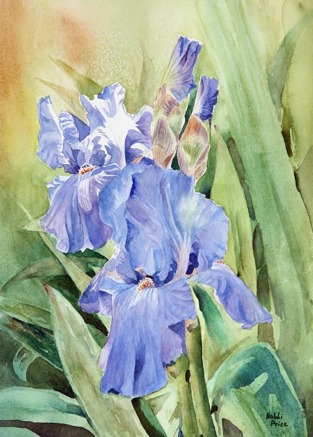Irises Painting - Touched By The Sun by Bobbi Price