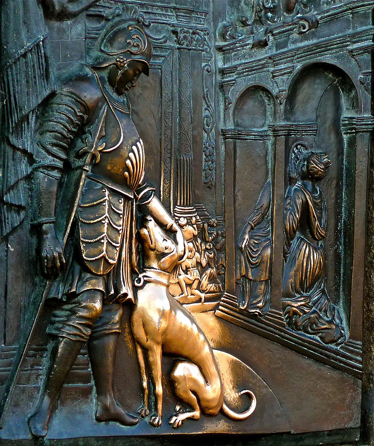 Statue Photograph - Touched Dog by Ivan Tamas