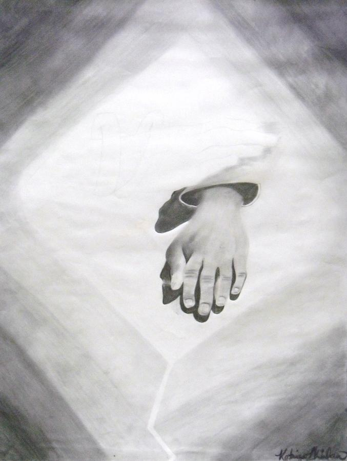 Hands Drawing - Touched by Katrice Kinlaw