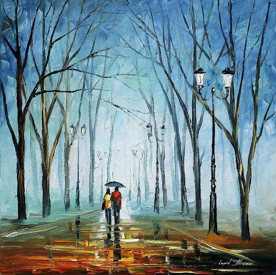 Touching Fog Palette Knife Oil Painting On Canvas By