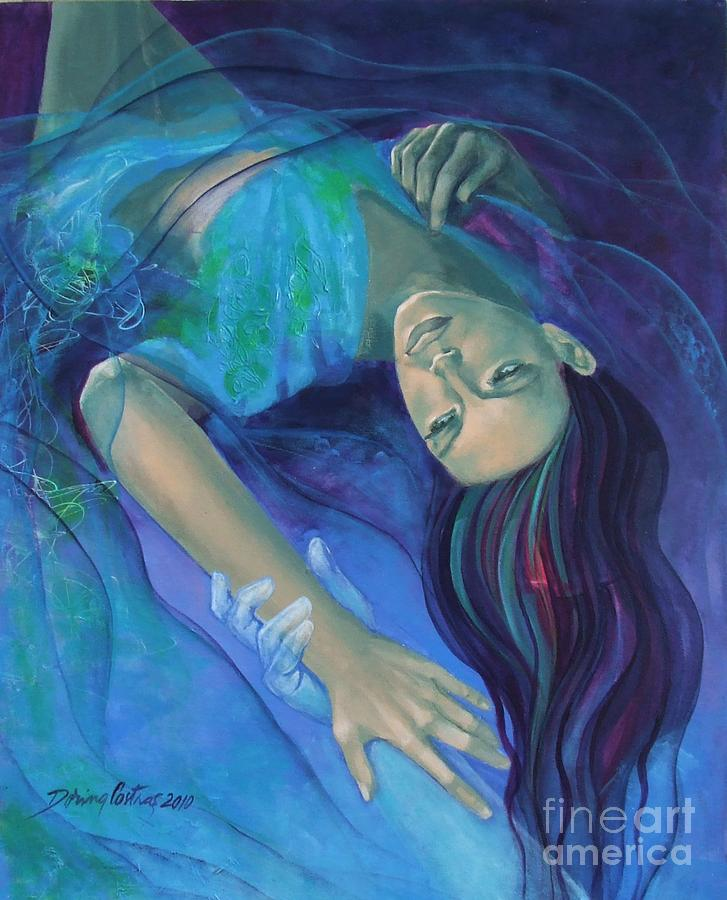 Art Painting - Touching The Ephemeral by Dorina  Costras