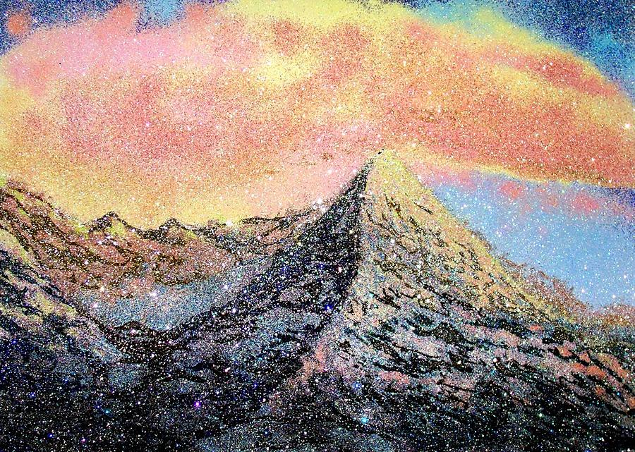 Mountains Mixed Media - Touching The Eternity by Caranfil Gabriela
