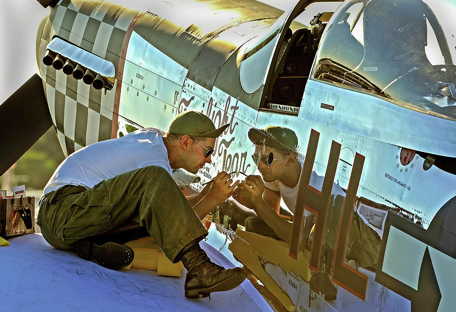 Touching The Past Painting A P-51d Photograph