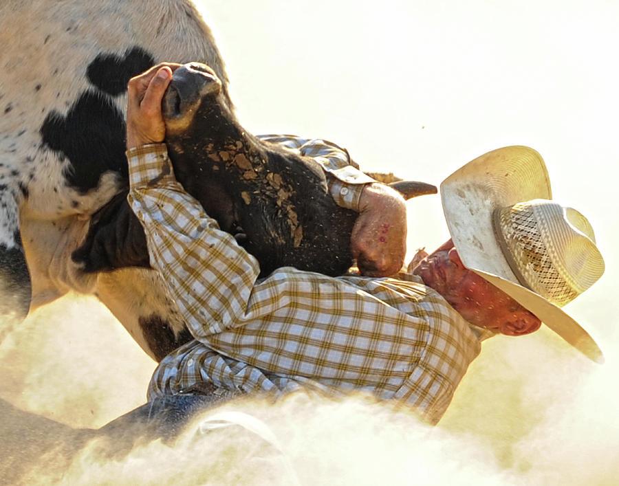 Action Photograph - Tough Enough by Ron  McGinnis