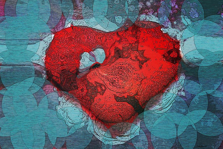 Hearts Digital Art - Tough Love by Linda Sannuti