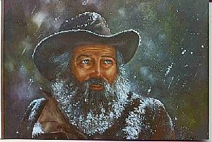 Mountain Man Painting - tough Night by Naomi Dixon