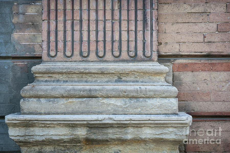 Column Photograph - Toulouse Building Fragment by Elena Elisseeva
