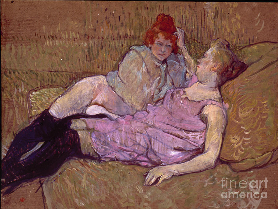 1894 Photograph - Toulouse Lautrec The Sofa by Granger