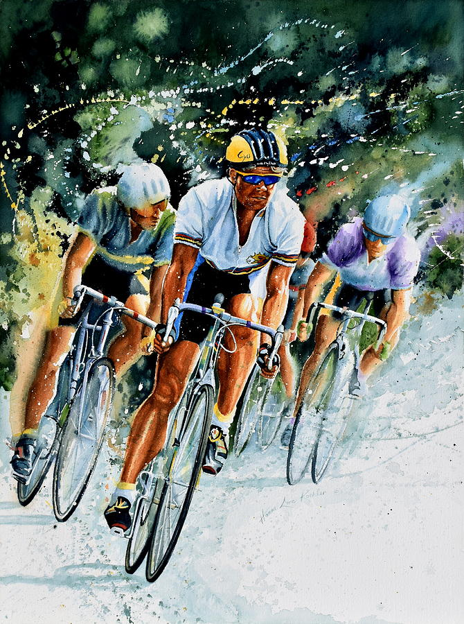 Tour De France Painting - Tour De Force by Hanne Lore Koehler