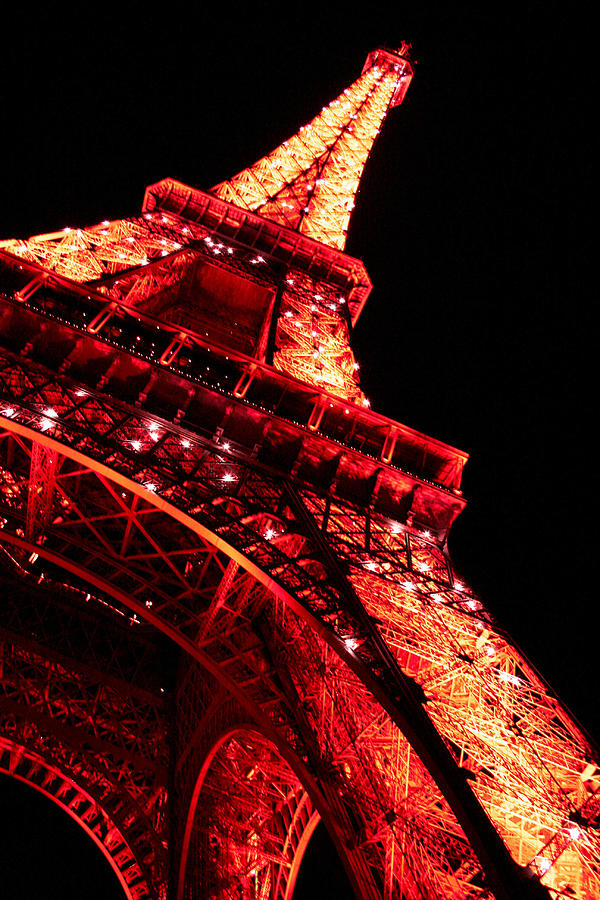 Tour Eiffel Photograph - Tour Eiffel By Night by Georgi Bitar