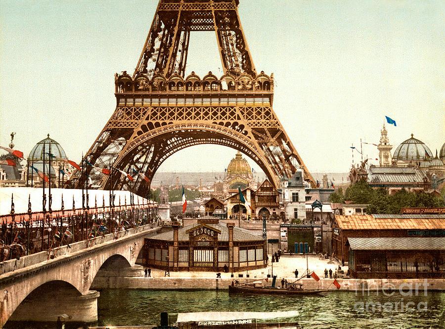 Paris Painting - Tour Eiffel  Exposition Universelle by Celestial Images