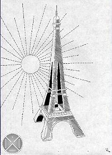Tour Eiffel Drawing by Max D Jacob