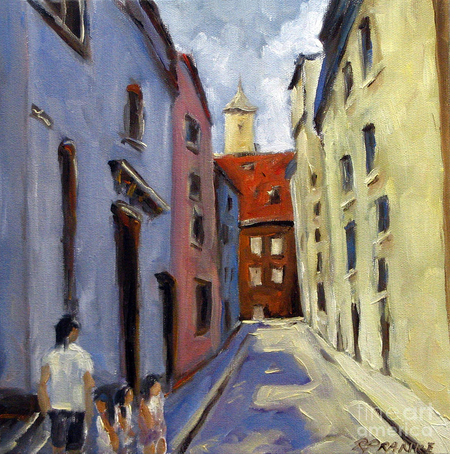 Urban Painting - Tour Of The Old Town by Richard T Pranke