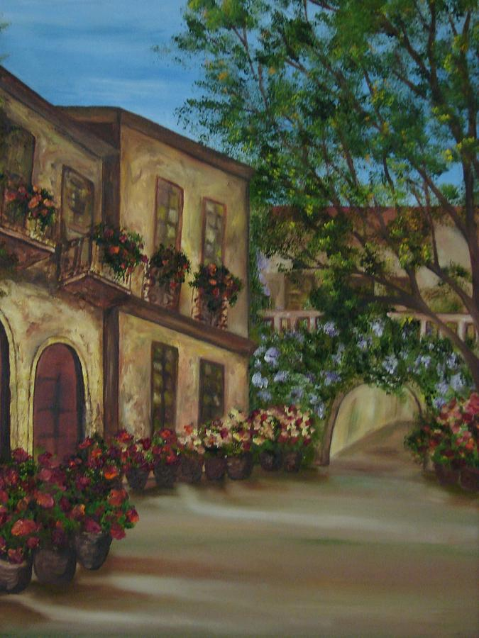 Cafe Painting - Tour Through The Villa by Shiana Canatella