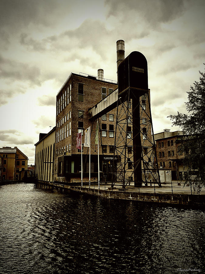 Tourist Office Photograph - Tourist Office Norrkoping In Old Effect by Ramon Martinez